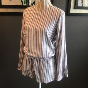 Anthropologie Shorts - Cloth & Stone, Striped romper